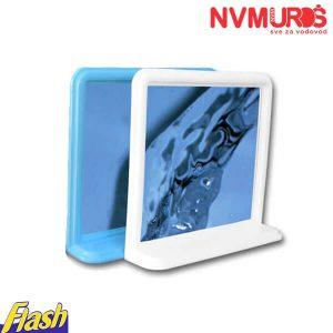 Ogledalo sa etažerom PVC belo i plavo