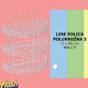 Polica troslojna Ažurnost 179