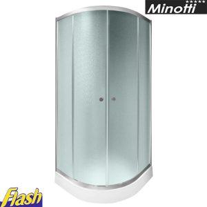 Tuš paravan polukružni 80x80cm - (bez kadice) - Minotti - JL4280